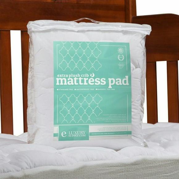 eLuxury Supply Other   Nwot Bamboo Crib Pillow Top Mattress Pad
