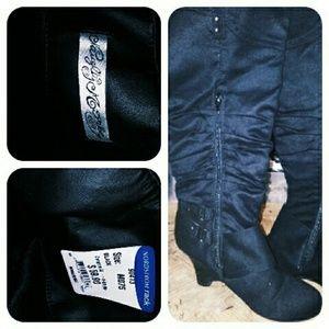 ⬇️PRICE DROP⬇️ Naughty Monkey Black Wedge Boots
