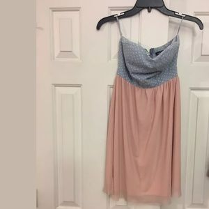 Supercute Rue 21 Strapless dress top is Denim like