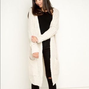 Brandy Melville Off-White Hanalei Knit Cardigan