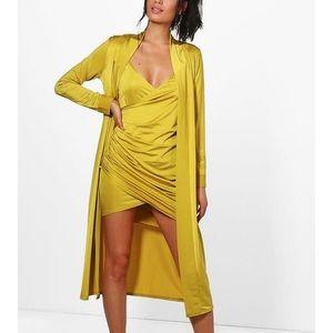 EUC Boohoo dress and duster size 6