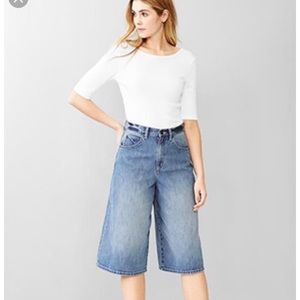 Gap 1969 High Rise Denim Culottes