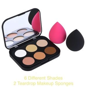 Other - Contour Kit 6 Shades & 2 Teardrop Makeup Sponges