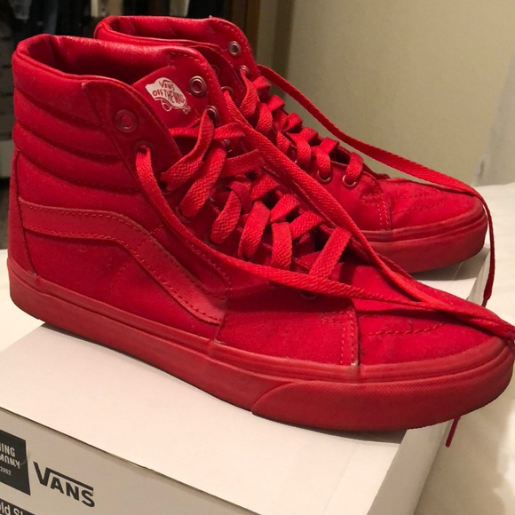 Achetez all red vans sk8 hi   64% de r duction! 668bc90db
