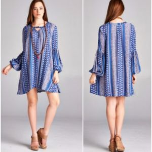 Baby Doll Paisley Print Tunic/Dress Plus Size