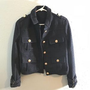 Navy color short coat