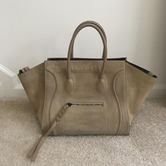 01775fb279 Celine Handbags - Celine Suede Phantom Tote - Medium