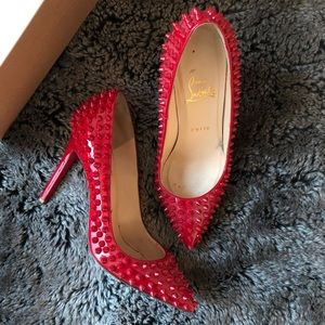 Christian Louboutin Shoes - Christian Louboutin Pigalle Spikes 100 Patent, 37