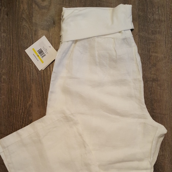 0098ac6dec Ellen Tracy Pure Linen Pants Size M NWT