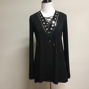 Michael, Michael Kors embellished black top