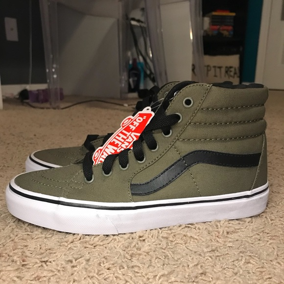 9614cce7fc Vans High Top Sneakers Olive Green Women s sz 8.5