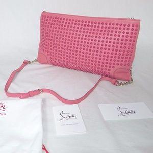 Christian Louboutin Loubiposh clutch bag Pink NEW