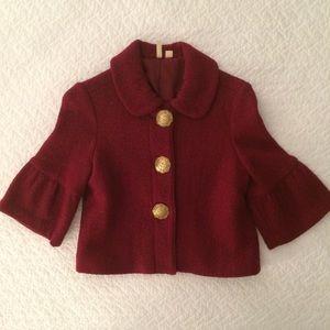 Cranberry Cropped Jacket
