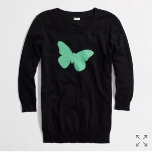 J Crew Factory Charley sweater in butterfly