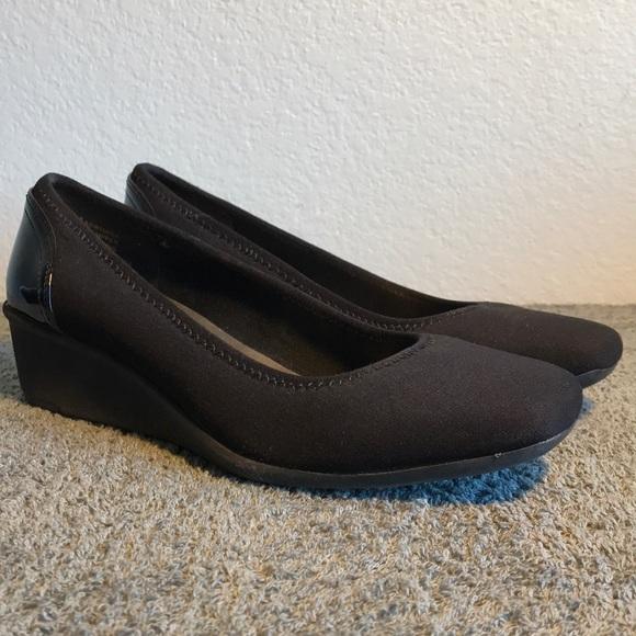 5cecb25b428 Anne Klein Sport Shoes - Anne Klein Sport Wisher Classic Black Wedge Heels