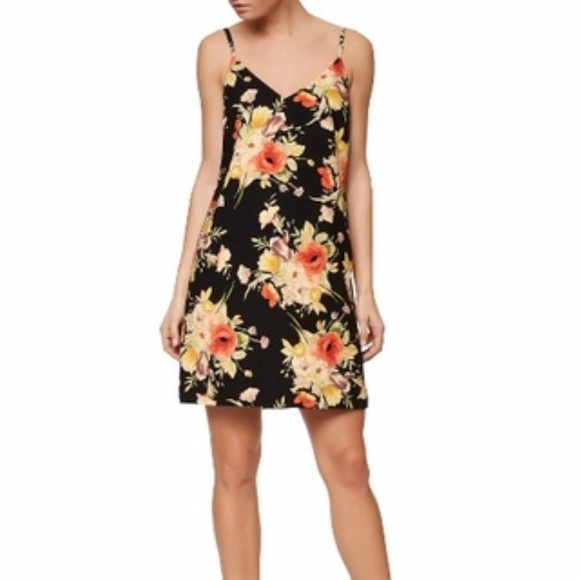 Sanctuary Dresses & Skirts - NWT Sanctuary floral black slip dress