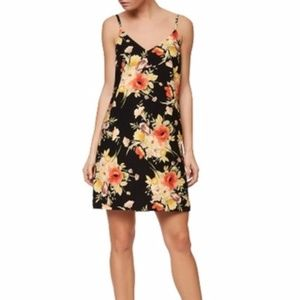 NWT Sanctuary floral black slip dress