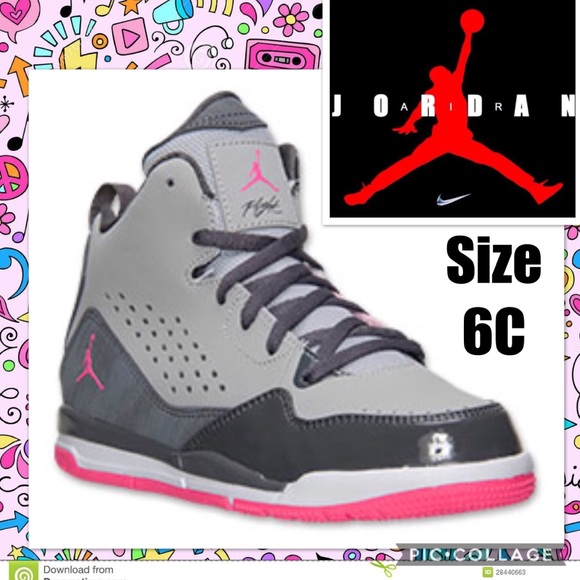 new products ee17b dd860 Nike Jordan SC-3 Girls Basketball Shoes Size 11C