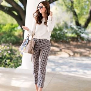 NWT Ann Taylor daisy jaquard 'devin' ankle pant