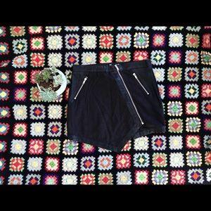 Lush pleather mini skirt