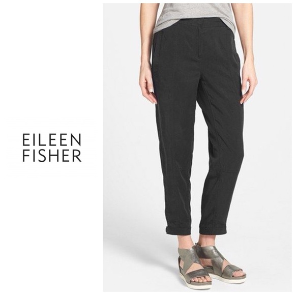 58c1457afcee Eileen Fisher Pants - Eileen Fisher Tencel button tab cuff ankle pants