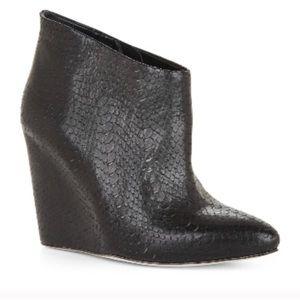 Bcbg MAXAZRIA black snakeskin booties