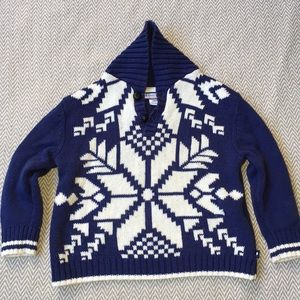 Knit snowflake winter pullover 24months EUC