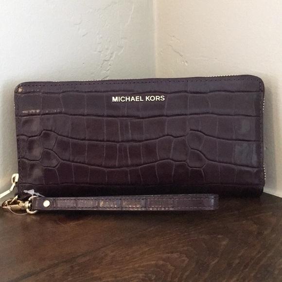 59b9e7976d53 MICHAEL Michael Kors Bags | Michael Kors Croc Embossed Money Pieces ...