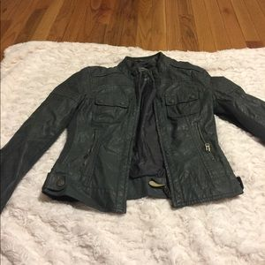 Areopostale jacket size small faux leather