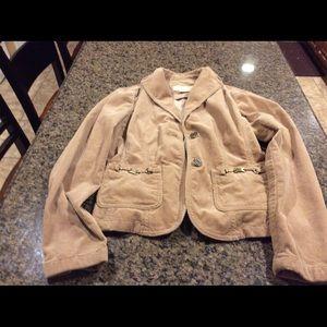 MICHAEL Michael Kors Tan Corduroy Jacket Size S