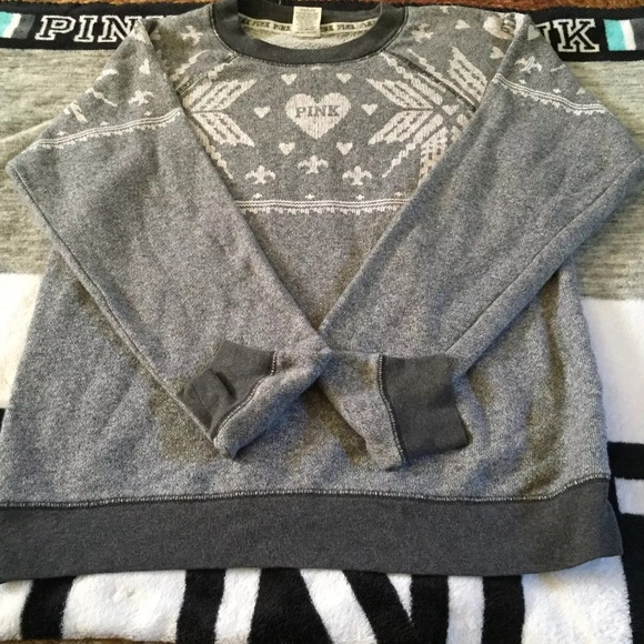 40% off PINK Victoria's Secret Sweaters - EUC-VS Pink Holiday ...