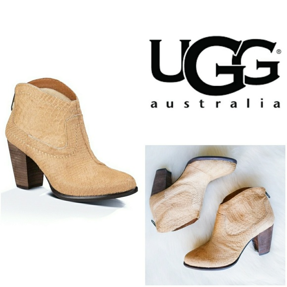 8a1c57b0bf6 UGG Shoes   Australia Charlotte Snake Print Ankle Booties   Poshmark