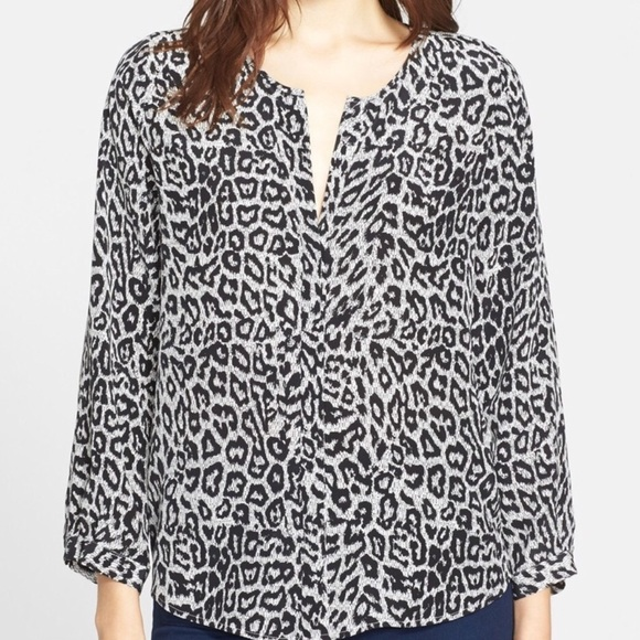 227f7f0a240c Joie Tops - Joie Purine Monochrome Animal Printed Silk Blouse