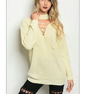 Sweaters - Choker sweater