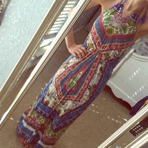 Boho patterned maxi dress