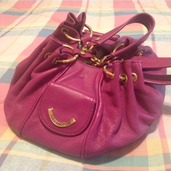 4045028a2db6 Juicy Couture Handbags - Juicy Couture Berry Leather Baby Fluffy Handbag