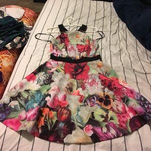Floral swirl Ted Baker dress