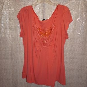 Tops - Coral Short Sleeve Top