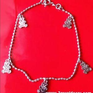 Jewelry - 18k white gold layer on 925  Teddy Bear  bracelet