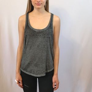 Gray Burnout Tunic