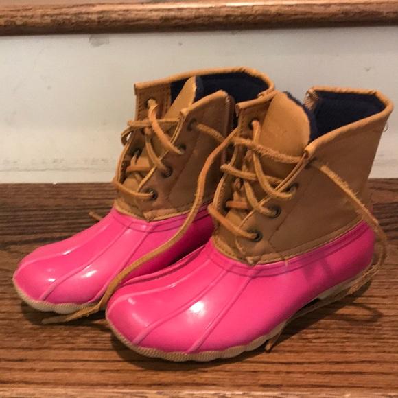 Sperry Duck Boots Pink   Poshmark