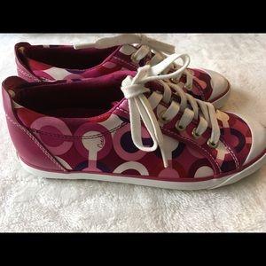 Coach Barrett Berry monogram tennis shoes