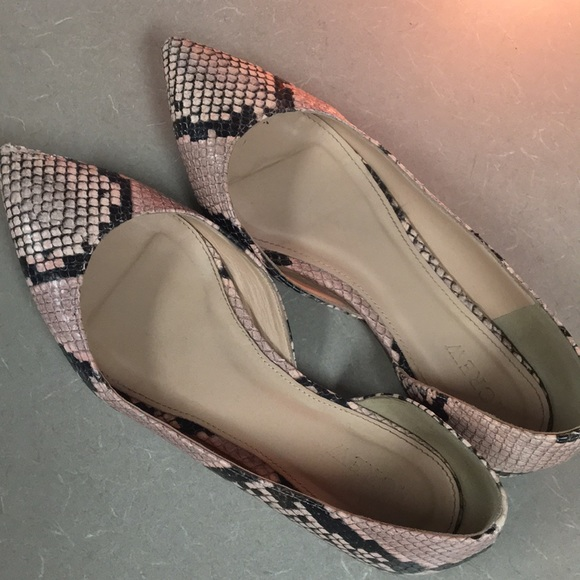9b160d0bfd0c J. Crew Shoes - J. Crew Audrey flats in snakeskin printed leather