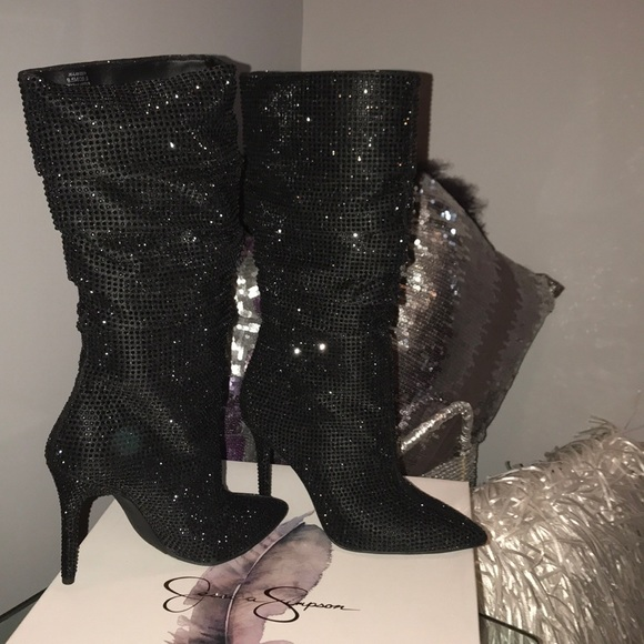 2a195626843 Jessica Simpson Layzer Embellished Slouch Boot!!! NWT