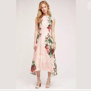 Anthropologie Garden Midi Dress Pink Floral 4 $198