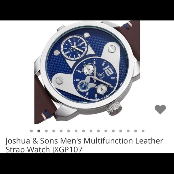 d2ccd2cca Joshua & Sons Accessories | Joshua Sons Leather Strap Mens Watch ...