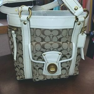 🌻PRICE DROP Coach  Legacy  Signature Brass Bag