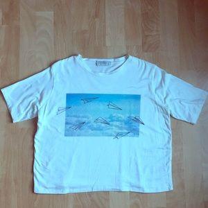 Pull&Bear paper airplanes Tee Shirt