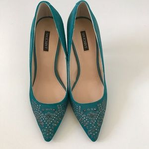 AUTHENTIC Shoemint Studded Blue Heels