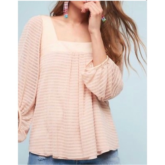 ed61fb1f45980e Anthropologie Tops - Anthro Meadow Rue Allyson Texture Blouse Pink Rose